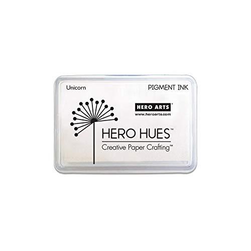 (Hero Arts AF249 Hero Hues Ink Pad, White Unicorn Pigment, 3.5