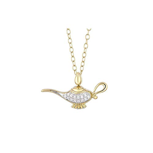 DTJEWELS Genie Lamp Pendant with 18