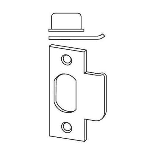 Schlage 10-001-626 T-Strike with Square Corner, 626 - Satin Chrome, Varies Metal - Satin Chrome Square Corner
