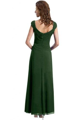 sunvary clásica para espaguetis correa gasa Pageant vestidos de para mujer 2015 verde oscuro