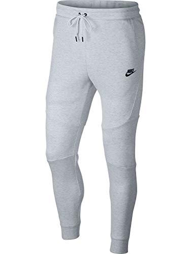 Nike Mens Sportswear Tech Fleece Jogger Sweatpants (Birch Heather/Black/Black, Large)