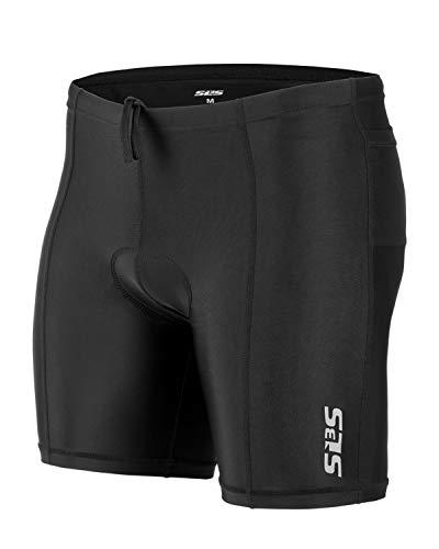 SLS3 Triathlon Shorts Men - Tri Short Mens - Men's Triathlon Shorts - Tri Shorts Black - 2 Pockets FRT 2.0 - Designed by Athletes for Athletes