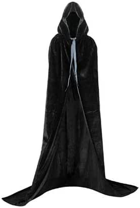 Full Length Hooded Cloak Costume Ideal for Christmas, Halloween, Cosplay Costume Party, Cape disguises.