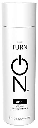 Turn On Anal Silicone Based Lubricant for Personal Use and Couples, 8 Ounce Bottle for Smooth Skin, Easy Clean-Up, and No Sticky Mess, Paraben-Free