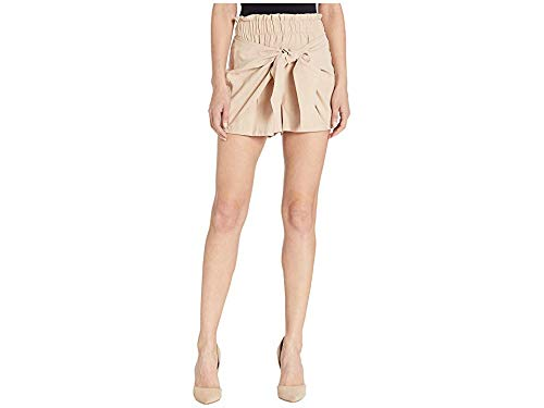 - BCBGeneration Women's Knot Front Paperbag Waist Shorts - UIR7205946 Taupe Large 3