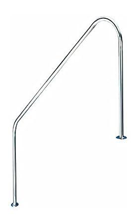 Pasamanos baranda de bajada piscina FX L. 1219mm. Acero Inoxidable AISI 316. Dos