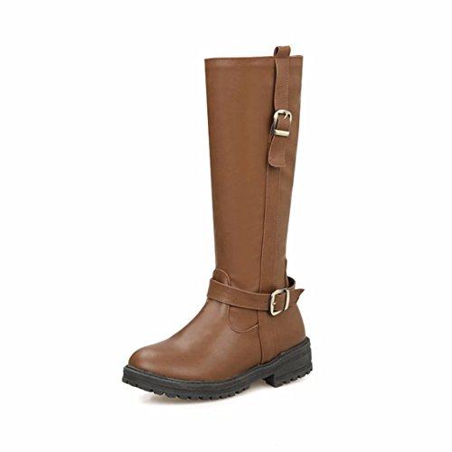 RFF-Women's Shoes Botas de Invierno Inglaterra Plana en Europa y América Botas Altas Código Viento yellow