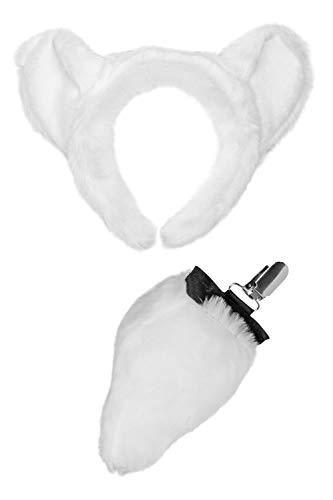Wildlife Tree Plush Polar Bear Ears Headband
