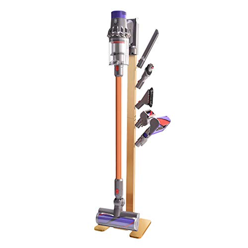 XIGOO Vacuum Docks Station Holder Stand for Dyson V11 V10 V8 V7 V6 Cordless Vacuum Cleaners & Accessories, Stable Metal Organizer Rack, Brushed Gold