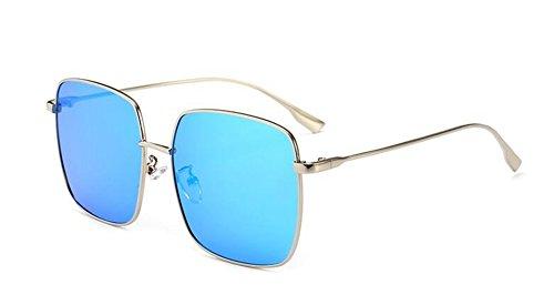 inspirées lunettes vintage rond retro Lennon du de en style soleil Glacier Bleu polarisées métallique cercle arwrtq0