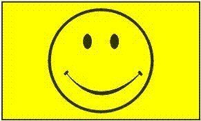 Happy Face (Smiley yellow) Flag: 3x5ft poly]()