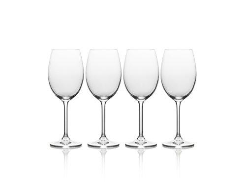 Mikasa Julie White Wine Glass, 16.5-Ounce, Set of 4