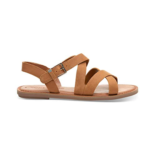 TOMS Tan Leather Women's Sicily Sandals (Size: 8.5)
