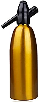 TOPBATHY Soda Siphon Ultimate Soda Maker Aluminum Soda Maker Bottle Carbonator Bar Cocktail Whisky Accessory 1000ml Black