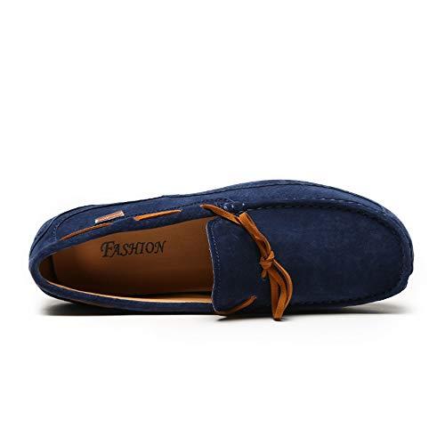 Zapatillas Bajo Zapatos Original Cordones Conducción Mocasines Sin Confort Hombre Mocasín Calzado Para De Cuero Corte Clásico Red Gamuza wn8vUHOq