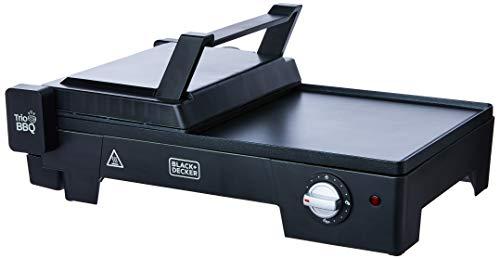 Black+Decker G2200 Grill Elétrico 3 em 1, com Abertura 180°, Preto