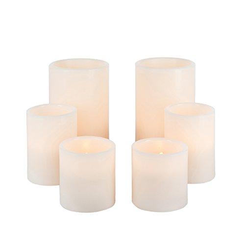 Everlasting Glow 6pc Wax 1000 Hr Candle Set, 22Inl x 4.63Inw x ()