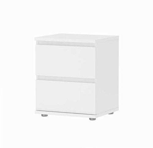Tvilum 7109249 Aurora 2 Drawer Nightstand, White by Tvilum