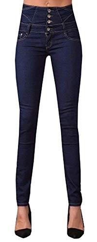 Lueyifs Fonc Femme Lueyifs Jeans Jeans Bleu Oq8OZgx