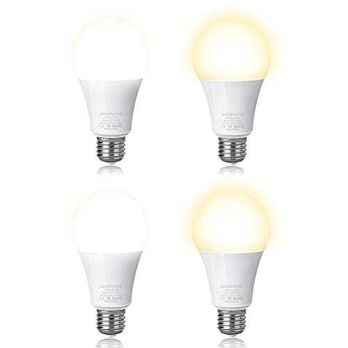 Smart-Led-Light-Bulb-Wi-Fi-Bulb-ANOOPSYCHE-Dimmable-2700K-6500K-60W-Equivalent-800LM-Daylight-Night-Lights-No-Hub-Required-Compatible-with-Alexa-and-Google-AssistantE26-4-Pack