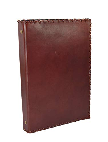 Indian Classic - 4 Ring Binder File Folder DIN A4 Genuine Leather Handmade India