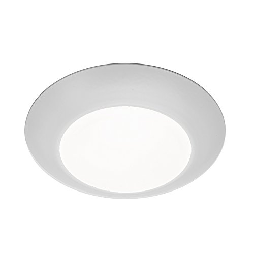 WAC Lighting FM-304-930-WT Contemporary Disc 4 Inch Energy Star LED Flush Mount 3000K Soft White In