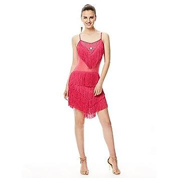 kekafu Vamos Vestidos de baile latino Womensrendimiento vestido de fibra de leche,Rosa