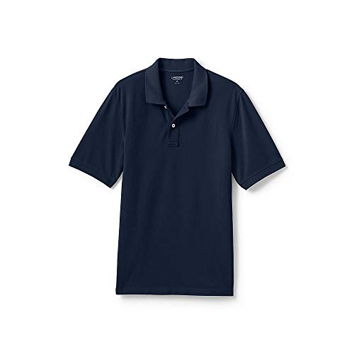 Shirt Mesh Collar Polo - Lands' End Men's Mesh Short Sleeve Polo Shirt, XL, Classic Navy