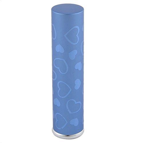 DealMux Travel Portable Heart Pattern Mini Refillable Perfume Spray Bottle 7mL Blue