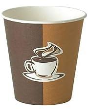 اكواب كرتون رسومات تخص القهوة حجم صغير 6 قطع