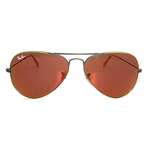 5a01db0807c4 Ray-Ban RB 3025 167 2K Demi Gloss Brushed Bronze   Red Mirror Lens ...