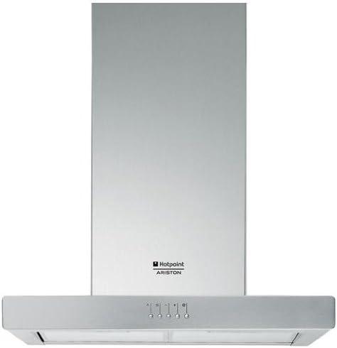Hotpoint HB 60.E IX/HA - Campana (445 m³/h, Canalizado, 44 dB, De pared, Acero inoxidable, Botones): Amazon.es: Electrónica
