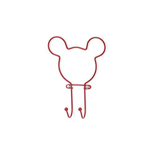 Suporte 2 Ganchos Vermelho Disney Arthi