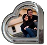 Godinger 3-Inch-by-5-Inch Silver Plated Heart Frame