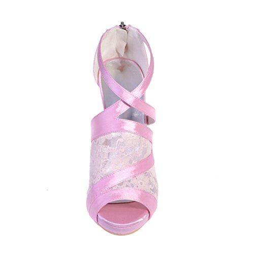 L@YC 5915-25 Sandalias De TacóN alto / Peep Toe Para Mujer Boda / Fiesta Nocturna Y al aire Libre / Ropa White