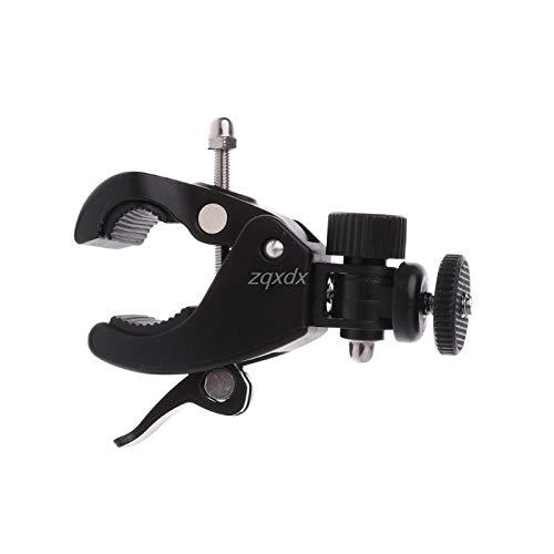 SAUJNN 1//4 Camera DV DSLR Bike Bicycle Handlebar Clamp Bracket Tripod Mount Screw Clip for Holding LCD Monitor DSLR Camera