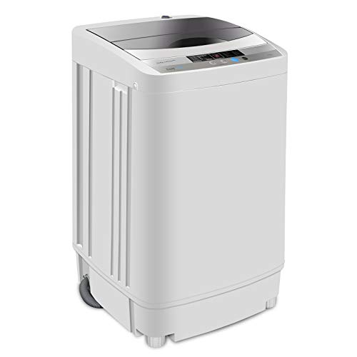 SUPER DEAL Newest Portable Full-Automatic Washing Machine 1.6 Cu. ft....