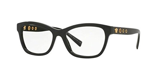 Versace VE3225 Eyeglass Frames GB1-52 - 52mm Lens Diameter Black - For Women Versace Eyeglasses