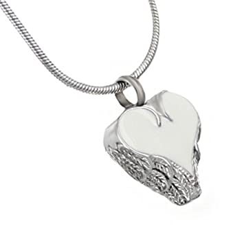 Silverlight Urns Angel Wings Heart Cremation Jewelry