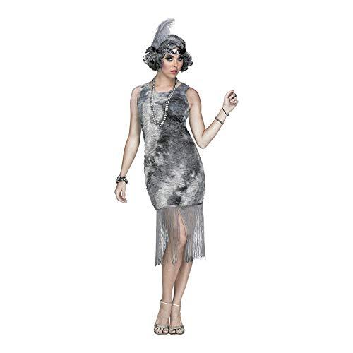 Fun World Women's Ghostly Flapper Costume, Multi, -