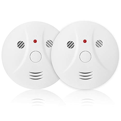 2 Pack Combination Photoelectric Smoke and Carbon Monoxide Alarm Detector for Home Bedroom Travel Portable Battery Operated - Portable Smoke Detector