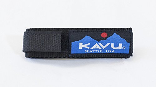 KAVU Solid Watchband, Black Large/ 8.5-Inch