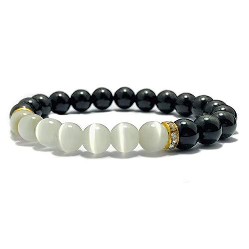 - Gemstone Bracelet – 8mm Braided Rope Procrastination Cure Black Obsidian Selenite Natural Stone Beaded Bracelet for – Chakra Aura Healing Self Emotional Growth Yoga Meditation Beads