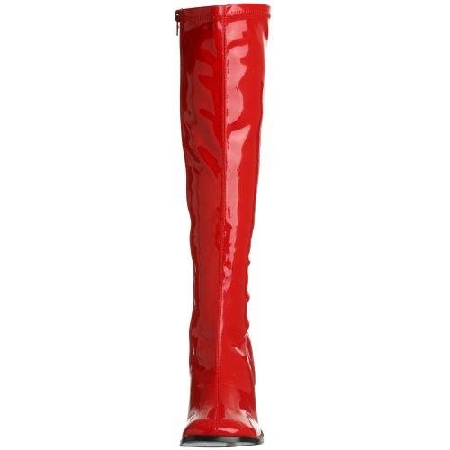 Donna Pleaser Str W Red Rosso Pat Stivali Gogo300 tBRwqB7