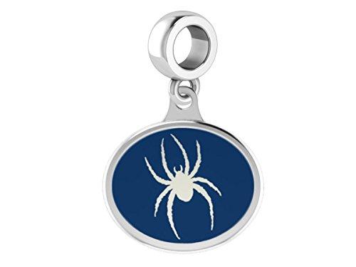 Enamel Spider Charm (Richmond Spiders Sterling Silver Enamel Drop Charm Fits All European Style Bracelets)