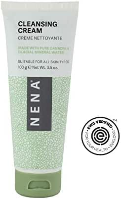 Nena Facial Cleanser with Clay for All Skin Types to Brighten and Exfoliate Skin - EWG Verified - Gentle & Natural