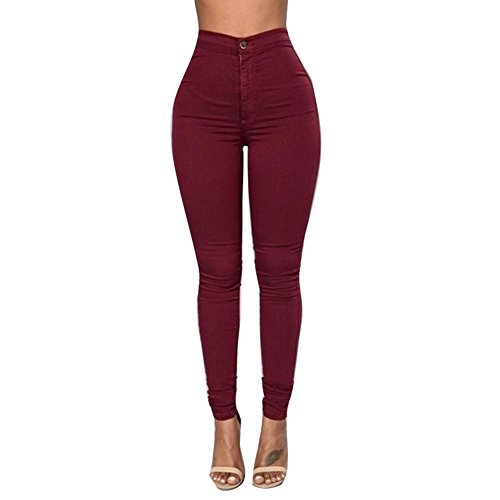 Denim Pantalon Casual Pantalon Rouge de Taille Stretch Crayon Sexy Jeans Broderie Jeans Jeggings Pas Fleurs Femmes 3XL Pantalons Denim Haute hibote Skinny S Straight Femme q0wCPAEE