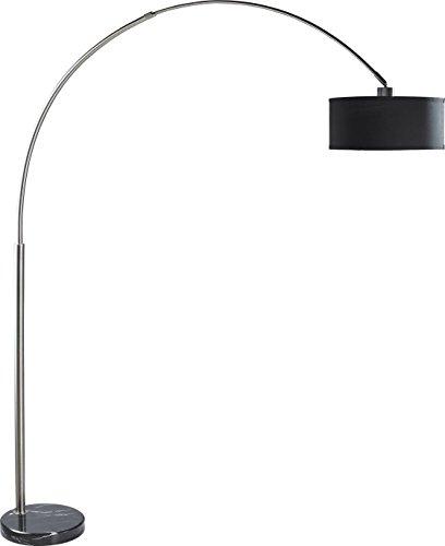 SH Lighting SH-6938BK, Steel Adjustable Arching Floor Lamp with Black Marble Base, 81