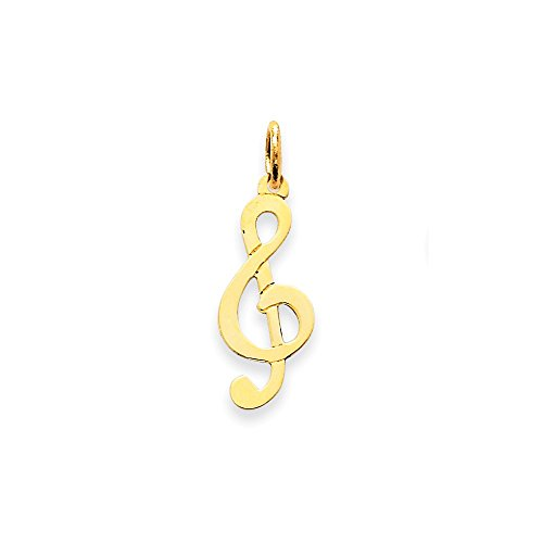 (Perfect Jewelry Gift 14k Polished Treble Clef Charm)