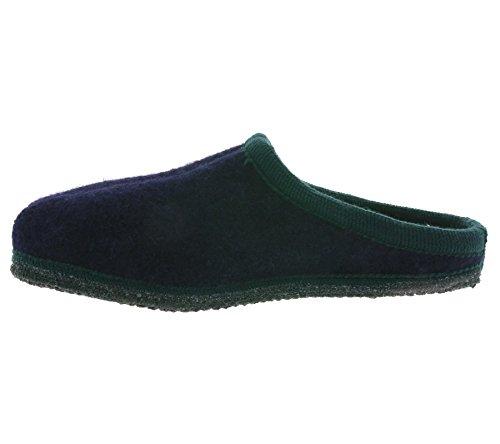 Haflinger Alaska blu/verde scuro in pantofole